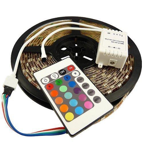 Xkttsueercrr 5M 16.4Ft Rgb 5050Smd 300Led Waterproof Flexible Led Light Strip Lamp + 24Key Ir Remote