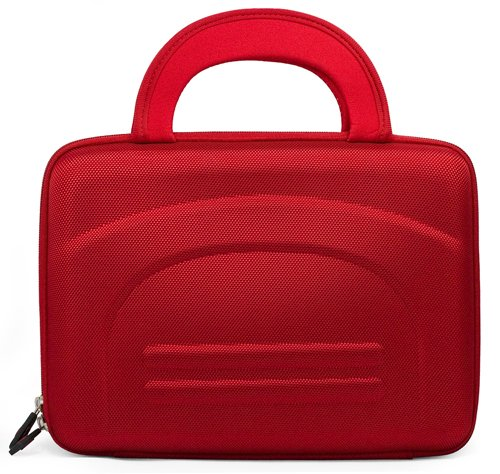 Red Hard Nylon Carrying Cube Case For The Coby Tf-Dvd1023 10.2-Inch Widescreen Tft Portable Dvd/Cd/Mp3 Player With Swivel Screen