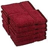 Superior Egyptian Cotton 10-Piece Face Towel Set, Burgundy