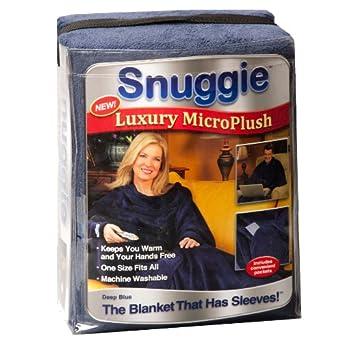 Snuggie- Luxury MicroPlush- Dark Blue- The Blanket with Sleeves