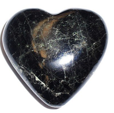 Sapphire Heart 01 Blue Black Crystal Royalty Stone Healing Rock Gem Love 2.5