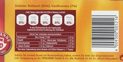 Teekanne Rooibos Vanille 20 Beutel, 4er Pack (4 x 35 g Packung) von Teekanne auf Gewürze Shop