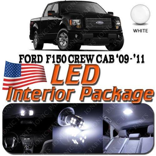 Super White 10 Light Bulbs Led Smd Interior Package - Ford F150 (Crew Cab 4 Door Only) 2009-2011
