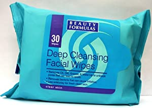 Beauty Formulas Deep Cleansing Facial Wipes - 30 Sachets
