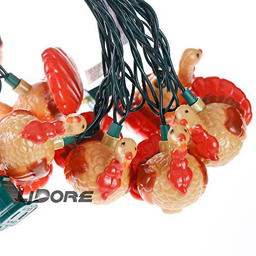 Turkey Party String Lights : LIDORE Turkey Festive String Lights. Set of 10 Party, Holiday, Celebration Ornaments Arts ...