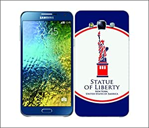 Galaxy Printed 2243 Landmarks&Monuments Liberty Hard Cover for Samsung E5