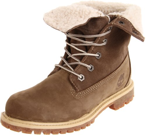 Timberland Women's Teddy Fleece Fold-Down Boot Taupe Lace Ups Boots 21691 3.5 UK