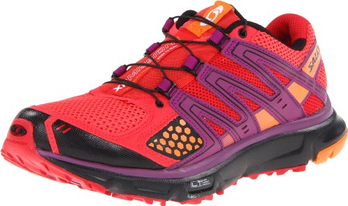 Salomon Women's XR Mission W Trail Running Shoe,Papaya/Orange/Black,7 M US