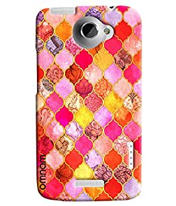 Omnam Prism And Glass Printed Designer Back Cover Case For HTC One X