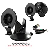ChargerCity GS44GB Garmin Nuvi 2457 2497 2557 2558 2577 2597 2598 42 44 52 54 55 56 LM LMT LMTHD GPS Rigid Low Profile GelBase GripLock Dashboard Windshield Suction Car Holder Mount with Designated Bracket Cradle, Best Replacement for 010-11983-00 *Includes Free ChargerCity Micro SD Memory Card Reader & Direct Manufacture Replacement Warranty*