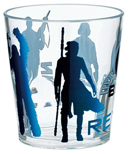 Japan Disney Official Star Wars the Force Awakens - Jedi & Empire Black Acrylic Clear Transparent Water Cup Break-resistant Beverage Plastic Reusable Kids Glasses Tumbler Dish Dishware Dinnerware
