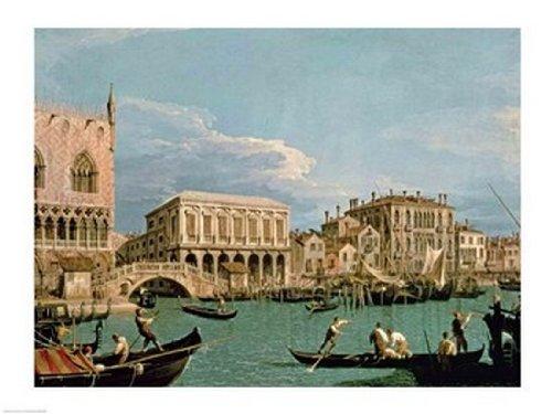 Giovanni Antonio Canaletto - Bridge of Sighs, Venice Fine Art Print (60.96 x 45.72 cm)