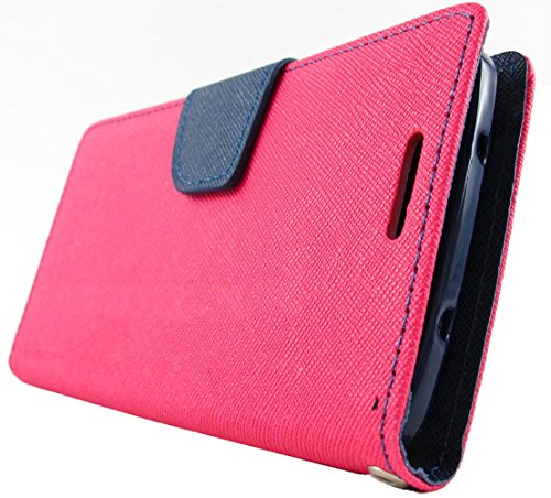 Mylife French Rose Pink And Cerulean Blue {Denim Design} (Multipurpose - Card, Cash And Id Holder + Magnetic Closing) Folio Slimfold Wallet For The Lg G2 Smartphone (External Textured Synthetic Leather With Magnetic Clip + Internal Secure Snap In Closure