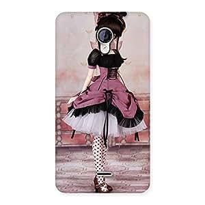 Premium Cute Dancing Girl Multicolor Back Case Cover for Micromax Unite 2 A106