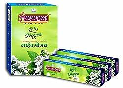 MaayasDeep Live Mogra Incense Sticks-Mogra Flower Fragrance-Approx 180 Sticks-(Net Weight-240 Grams)
