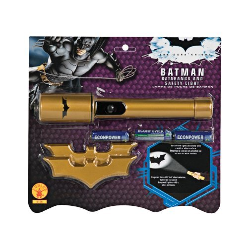 Rubies Costume Batman The Dark Knight Batarangs and Safety Light Set