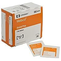 Covidien 6818 Webcol Alcohol Prep, Sterile, Medium, 2-Ply (Pack of 200) by Covidien