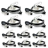 Retevis 2 pin Covert Air Acoustic Tube Headset Earpiece 10 Pack for Kenwood PUXING Baofeng UV-5R UV-5RA 888S H777 High Quality!!!