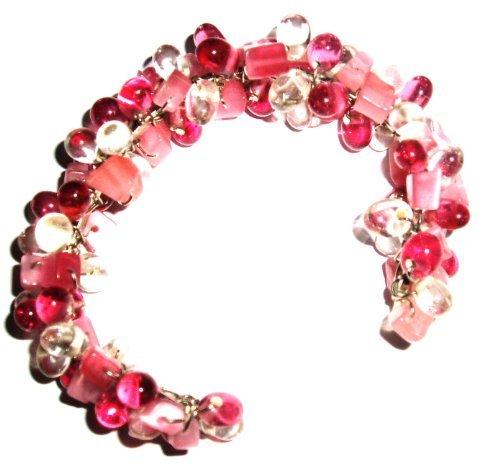 Tribe Pink flexible bead bracelet