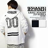 ゼファレン ZEPHYREN LIGHT WEIGHT ZIP PARKA -SPADE- WHITE L