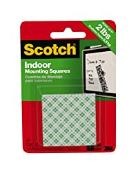 3M Scotch Indoor Mounting Squares, 48-Squares (1-inch)