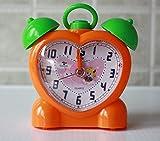 Creative children Orange cute cartoon student fashion alarm clock table clock alarm clock Analog quartz alarm clock kids Children Silent Alarm Clock Kids Student Kids Bedside Sleep Trainer