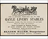 518o6dXoyEL. SL160  Photographic Print of LIVERY STABLE CARD from Mary Evans Reviews