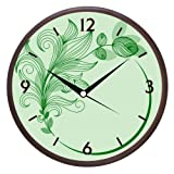 Wall Clocks - Printland Green Colored Wall Clock