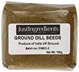 JustIngredients Dill Seeds Ground Loose 100 g (Pack of 5)