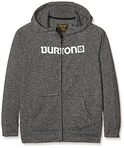 burton-sudadera-oak-fz-nino-hoodie-oak-fz-negro-jaspeado-s