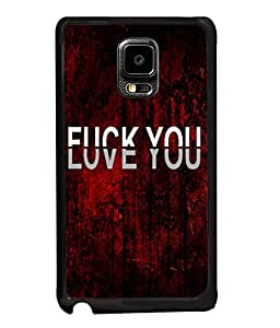 Fuson Love Red Pattern Back Case Cover for SAMSUNG GALAXY NOTE EDGE - D3703