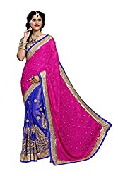 silvermoon women's chiffon embroidered free size fancy saree-sm_NMD2A225_pink_free size