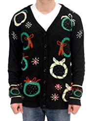 Christmas Sweater Wreath Cardigan Flashing