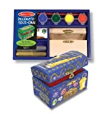 518oDBlVAbL. SL160  Melissa & Doug Educational Toy DecorateYourOwn Wooden Treasure Chest