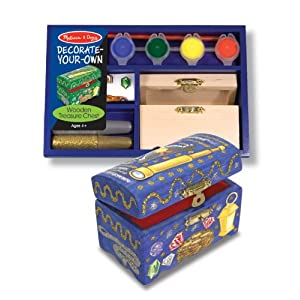 Click to buy Pirate Birthday Party Ideas: Melissa and Doug Decorate Your Own Wooden Treasure Chest from Amazon!