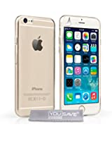Yousave Accessories Coque iPhone 6 Etui Clair Silicone Gel Ultra Mince Housse