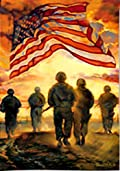 American Heroes Patriotic Garden Flag Military Support our Troops 12.5