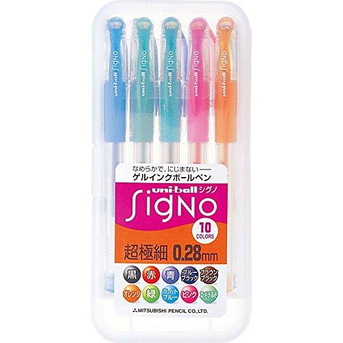 三菱鉛筆 ボールペン ユニボール シグノ 超極細 0.28mm 10色セット UM1512810C