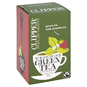 Clipper Green and Strawberry Teabags (Pack of 6, Total 240 Teabags)