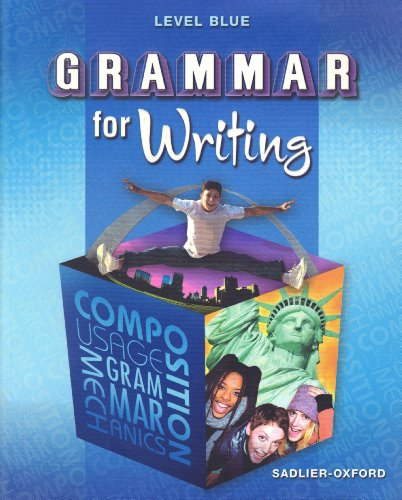 level blue grammar for writing answers