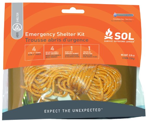 Survive Outdoors Longer Emergency Shelter Kit, 0.393 Pound