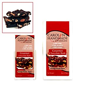 Gourmet Dark Chocolate Jalaprika Cashew Bark White Rooftop Gift Box 8oz by Carolyn's Handmade