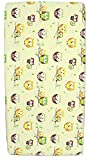 NEW BABY COT SHEET 140x70 120x60 100 COTTON FITTED PRINTED COLOURFUL NURSERY BED 120x60 Owls Ecru