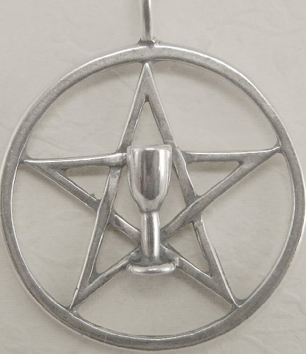 A Wonderful Pentacle with a Chalice Accent in Sterling Silver