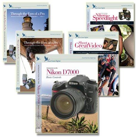 Nikon D7000 Instructional DVD's 5 pack