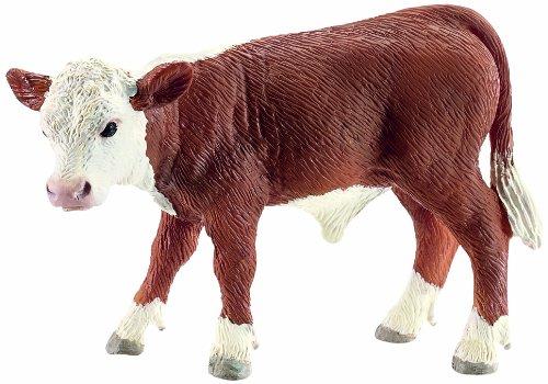 Schleich Hereford Calf Toy Figure - 1