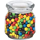 M&Ms in Pritchey Patio Glass Jar 8oz Trade Show Giveaway