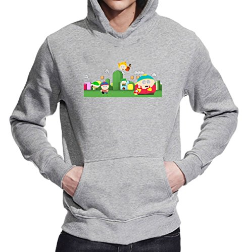 South Park Super Mario T-Shirt Unisex Pullover Hoodie XX-Large
