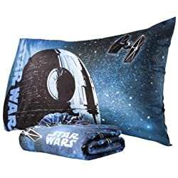 Kids&#039 - Star Wars Twin Micro Mink Fitted Sheet and Pillowcase - toys-games