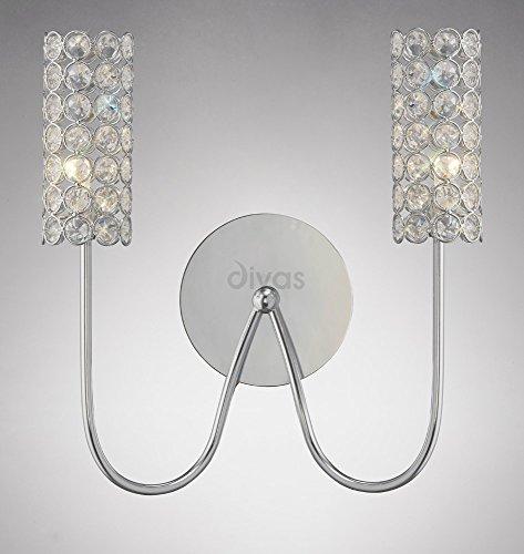 martina-lampe-murale-2-lumiere-chrome-poli-cristal